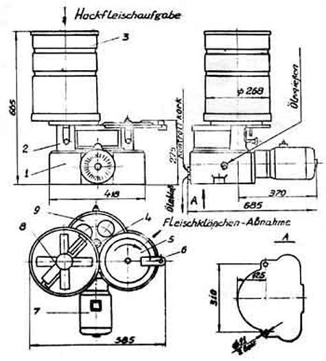 Used Automat do wyrobu klopsów AK2M-40