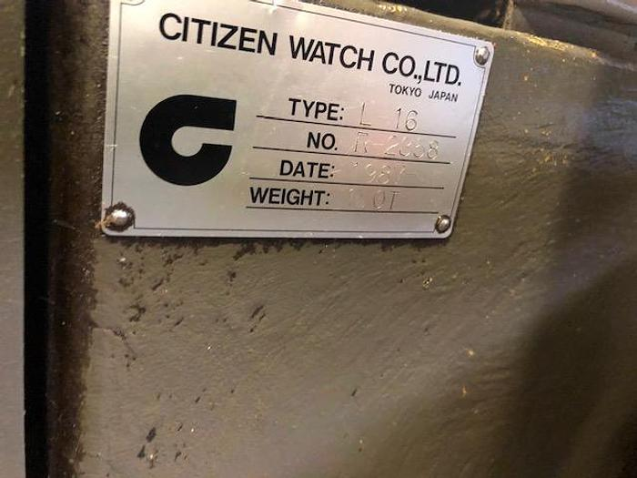 1987 Citizen Cincom L16  With Barfeed