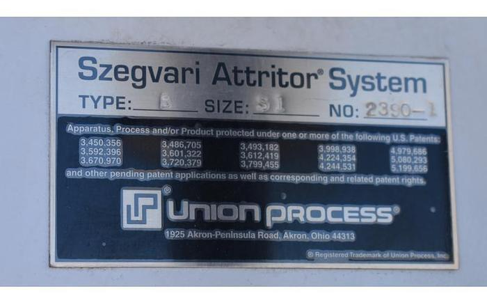 USED UNION PROCESS ATTRITION MILL, LABORATORY ATTRITOR