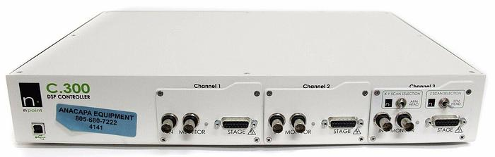 Used NPoint C.300 3 Channel DSP Controller C-300 XYZ Scan Selection Nanoposition 4141