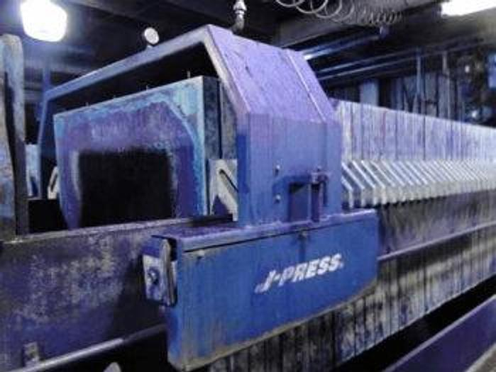 Used 75 CU. FT. FILTER PRESS – POLYPRO. – 1200 MM – AUTOMATIC CLOSURE