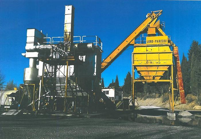 Usata Impianto di produzione di conglomerato bituminoso LORO & PARISINI essiccatore MARINI EMCC 160