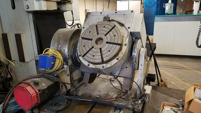 "Used CNC 12 1/2"" Multi Axis Rotary Table Gimbal Multi Angle Machining"