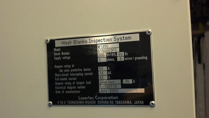 Used Lasertec M1350 EUV Inspection system