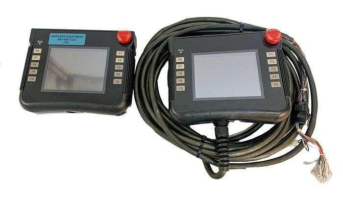 Used Omron NSH5-SQR10B-V2 Interactive Display Handheld Terminal Lot of 2 (7667) W