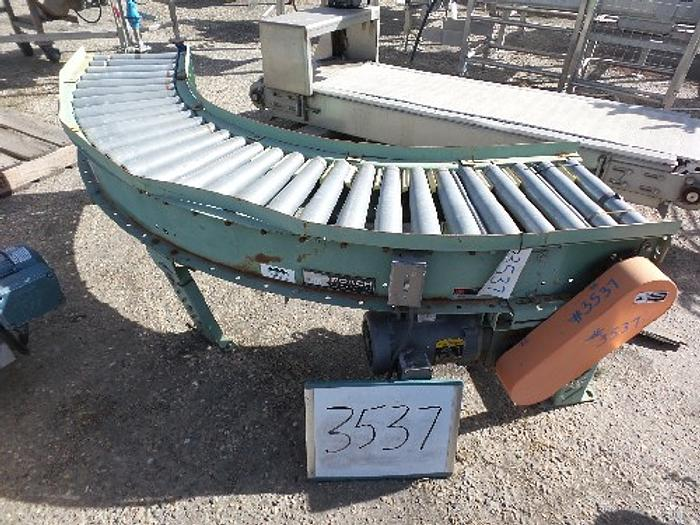 Used Roach 90 degree Powered Case Conveyor