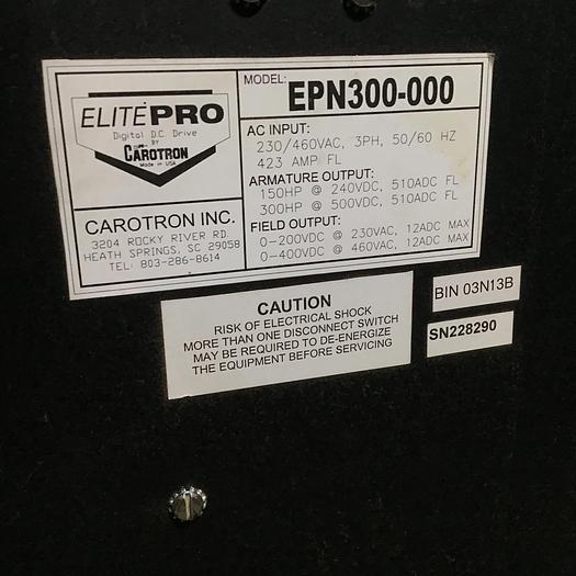 150 / 300 HP Carotron Elite-Pro Digital DC Drive