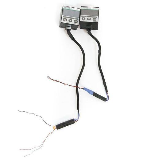 Used Sunx DP2-20 Digital Vacuum Pressure Control Switch w LED Display Lot of 2 (5474)