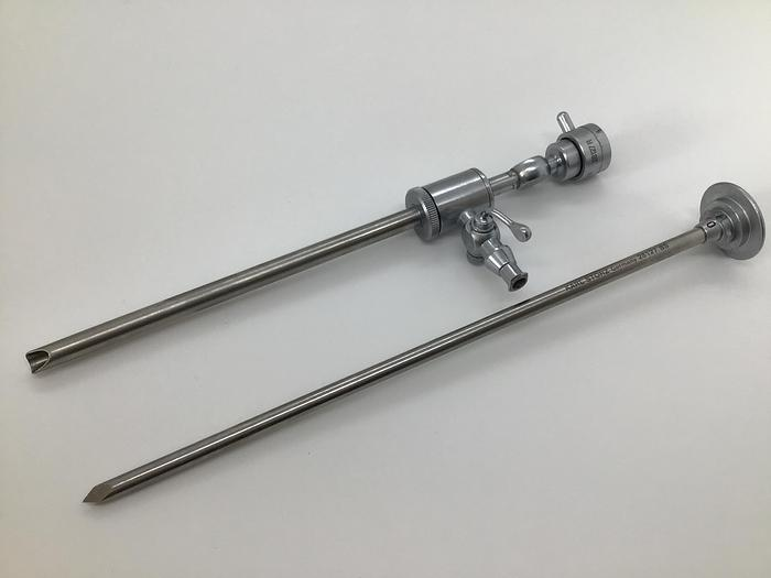 Used Storz Sharp Trocar and  Sheath 28127R and 28127BS