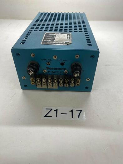 Used SORENSEN PTM12-5.5 POWER SUPPLY In: 105-125V 50-440hz 2.2a Out: 11.4-12.6v 6.5a