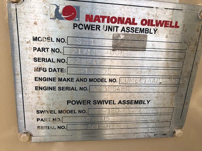 NOV S-120 3.5 Power Swivel