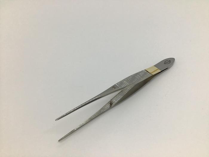 Used Stille iris forcep straight silcock 100mm
