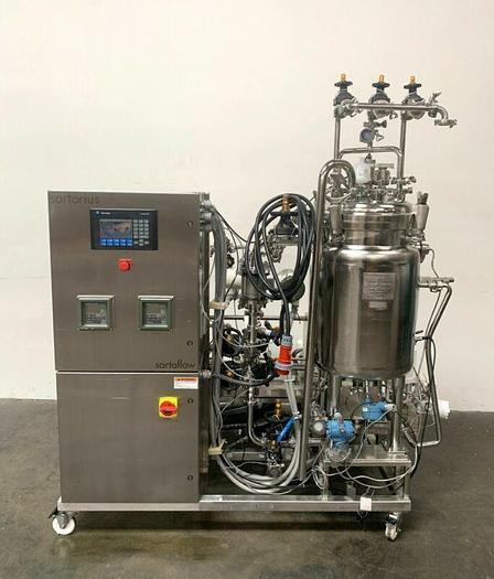 Used Sartorius Filtration Skid w/ Filter Press, 75 L Jacketed Tank & Tri-clover Pump
