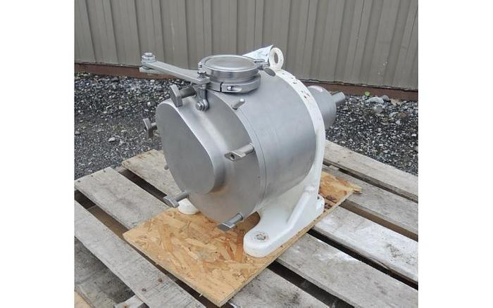 USED SINE POSITIVE DISPLACEMENT PUMP, MODEL MR150, 316 STAINLESS STEEL, SANITARY