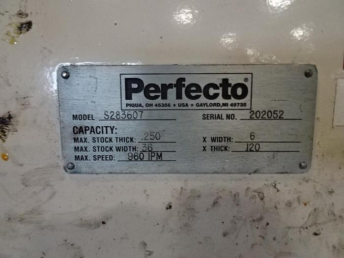 "Used 36"" x .125 PERFECTO POWERED STOCK STRAIGHTENER"