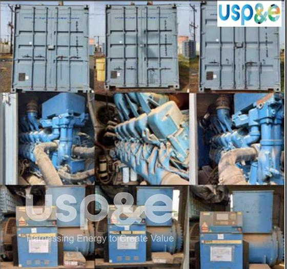 Used 2 MW 2012 Used MTU 12V4000G63 Diesel Generator