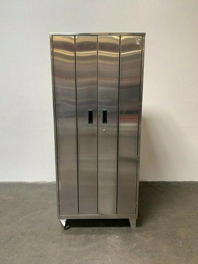 """Used Stainless Steel Lab Storage Cabinet  24"""" x 36"""" x 84"""""""