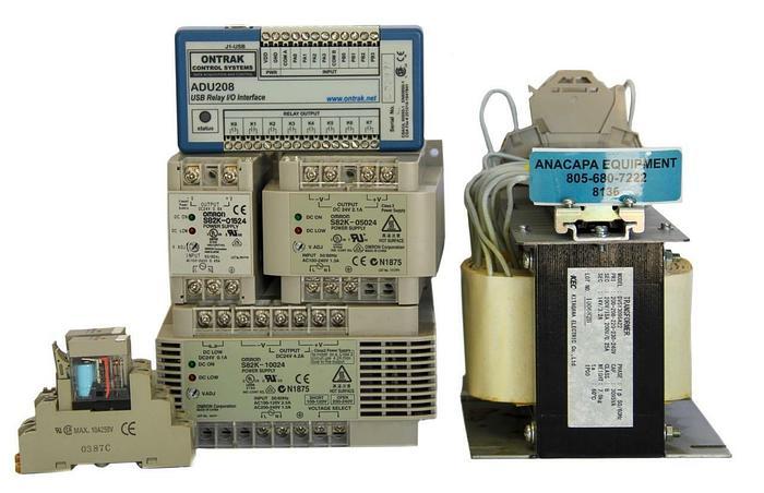 Used Kitagawa DVSY3095A22 Transformer, Ontrak ADU208 J1-USB Relay Lot of 7 (8136)W