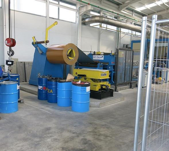 Used 1280mm Coil Coating Line: CC-172