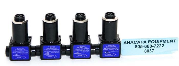 AirTrol V-800-30 Sub-Miniature Vacuum Regulator Lot of 4 New (8037)W