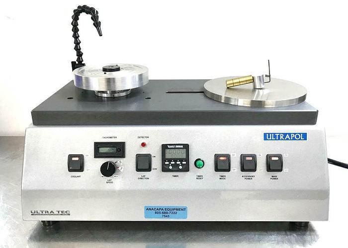 Used Ultra Tec 6390.1 Ultrapol End & Edge Polisher, Lapping Machine USED (7543) R