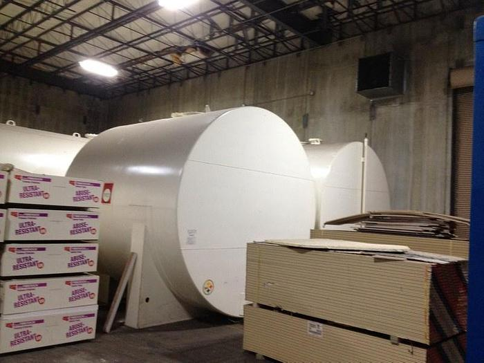 10,000 Gallon, Carbon Steel Double Wall, Above Ground Tank, Mfg. 2007 with: White Urethane Exterior.