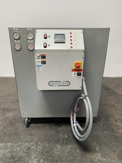 Used Mokon AS2E10J1 35KW Water Cooled Portable Chiller 5-65° F 3 Phase 230V