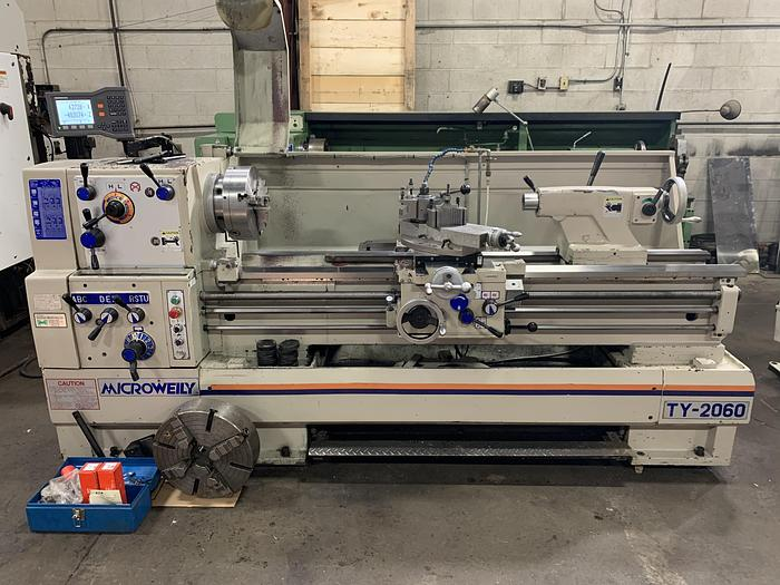 """Used 20"""" X 60"""", MICROWEILY, 2016, TOOLROOM LATHE"""
