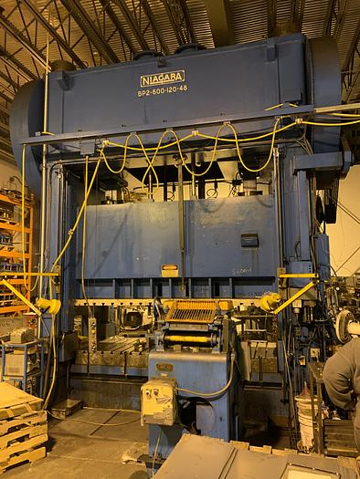 "600 ton Niagara 120""x48"" Used Stamping Press"