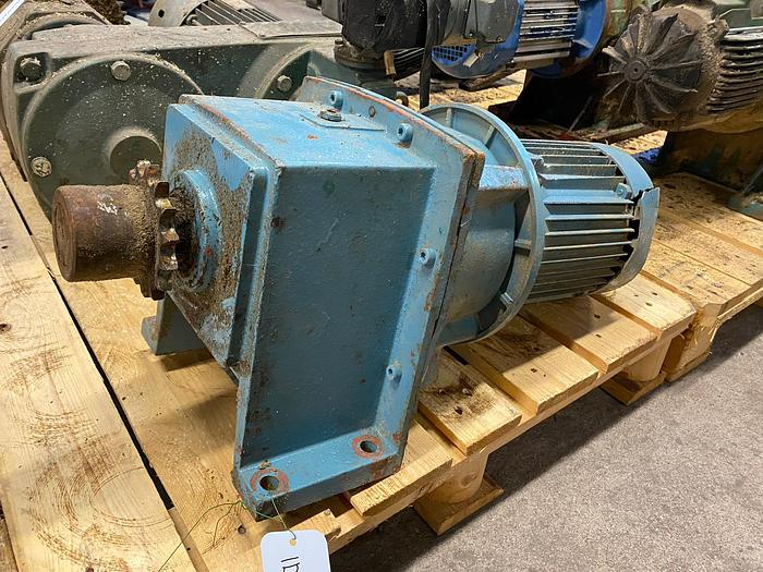 Used ASEA Electric motor with reducer 2,2 kW