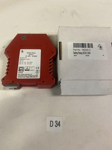 New IDEM SCR-3 24V Safety Relay Part 180002-C Warranty Fast Shipping