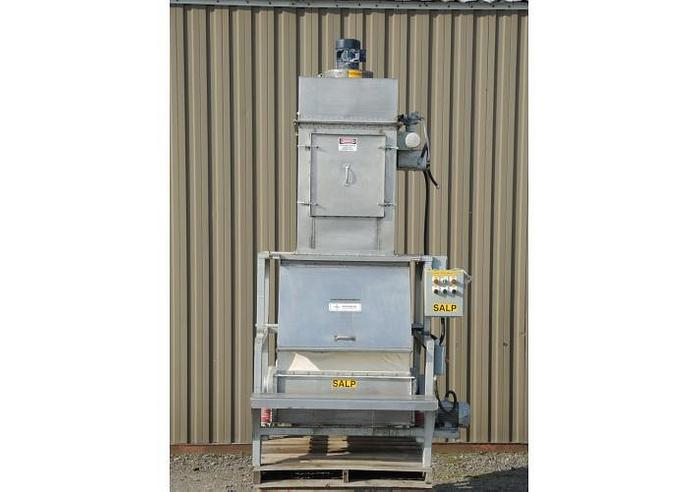 Used USED SMICO STAINLESS STEEL BAG DUMP STATION WITH VIBRATORY SCREEN & DUST COLLECTOR