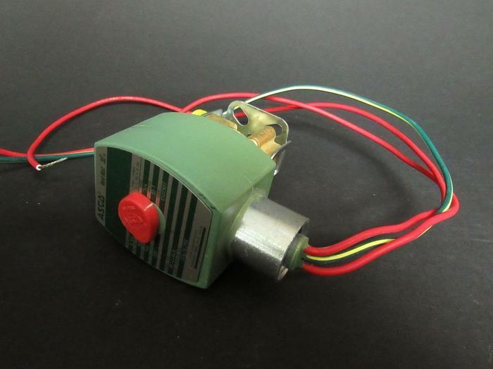 "ASCO Red-Hat II 8262G208 Solenoid Valve 100 PSI 120 VAC 1/4"" Brass (3862)"
