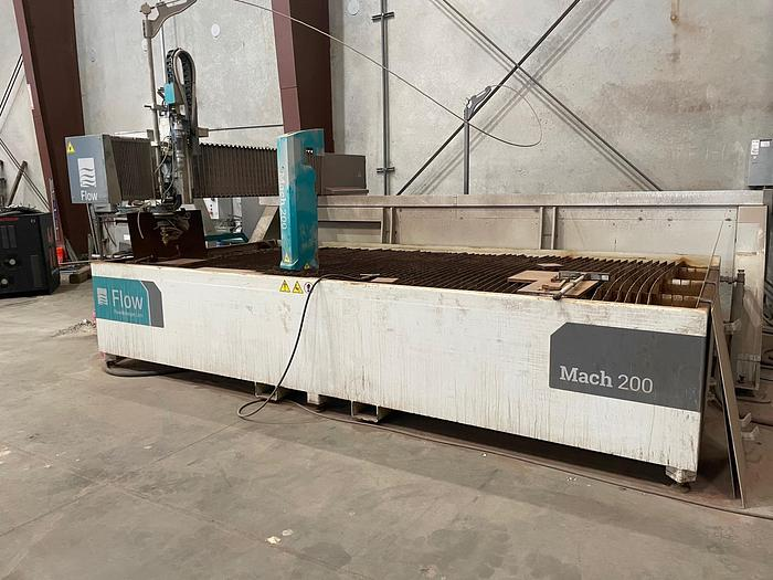Used 6' x 13' Flow Mach 200 4020 CNC Waterjet Cutting System