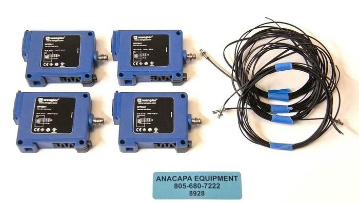 Used Wenglor OPT2041 Fiber Optic OPT Amplifier w/ K10 Cable USED LOT OF 4 (8928)R