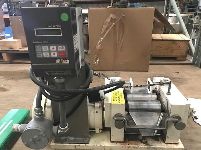 Used 2.5″ X 5″ ROSS THREE ROLL MILL – TYPE 440C STAINLESS STEEL ROLLS (#9395)