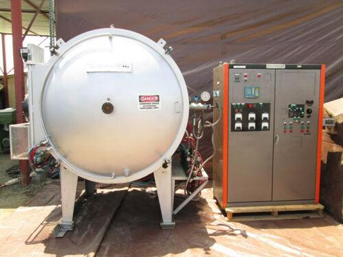 """GCA INDUSTRIES VACUUM FURNACE WITH CONTROLS AND 18"""" X 24"""" X 36"""" ID CAPACITY"""