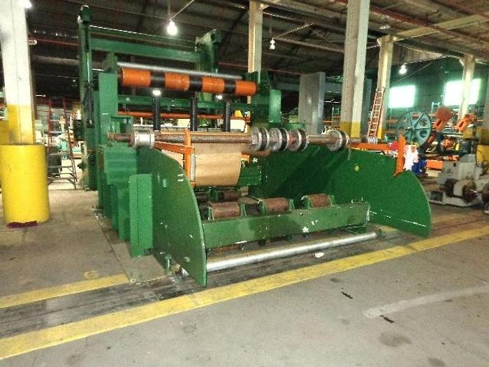 """Used 110"""" PCMC  DRIVEN UNWIND STAND 100"""" ROLL DIAMETER"""