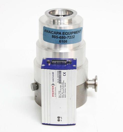 Used VIC TMH 071PX Turbo Pump + Pfeiffer Leak Detector TC100 Turbo Controller (6106)