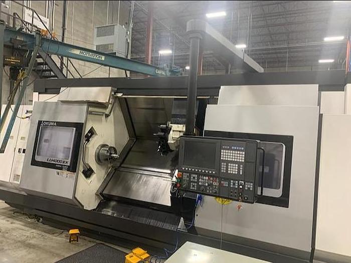 Used 2018 OKUMA LU4000EXBBMY2SCx2000 4 AXIS CNC LATHE