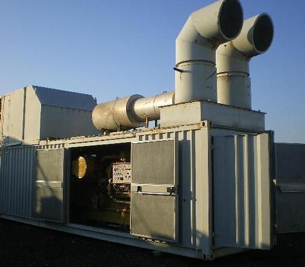 Usata Gruppo di Cogenerazione, con n. 4 gruppi elettrogeni motore a gas CATERPILLAR G3512 SITA/110 OW - 3.600 KVA