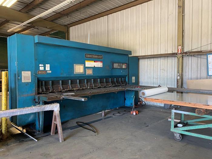 """1999 1/2"""" x 12' Cincinnati 500 CNC Hydraulic Shear"""
