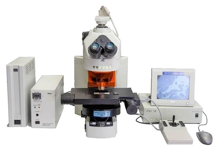 Used Nikon Eclipse 90i Microscope System w/ Prior Motorized Stage + Accessories 8990R