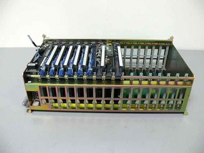 Used Allen Bradley 1771-A4B 16 Slot Chassis w/ PLC-5/40 Controller, 2 Input, 3 Output