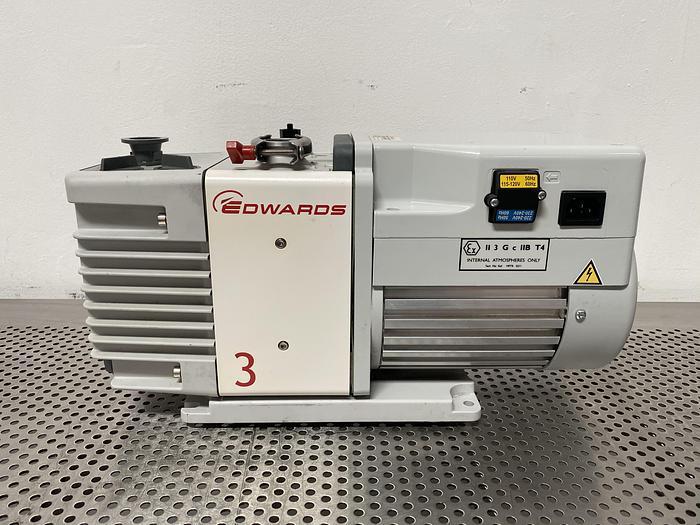 Used Edwards RV3 Rotary Vane Vacuum Pump 220/240V