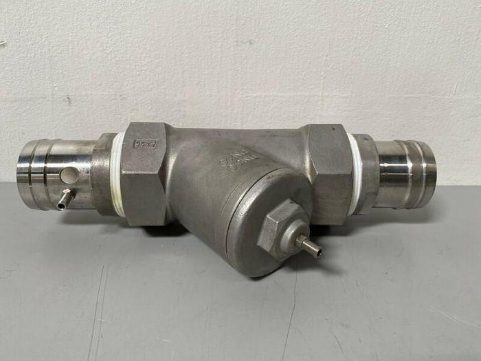 """Used Stainless Steel Valve System w/ 1/8"""" & 2"""" Hose Fitting"""