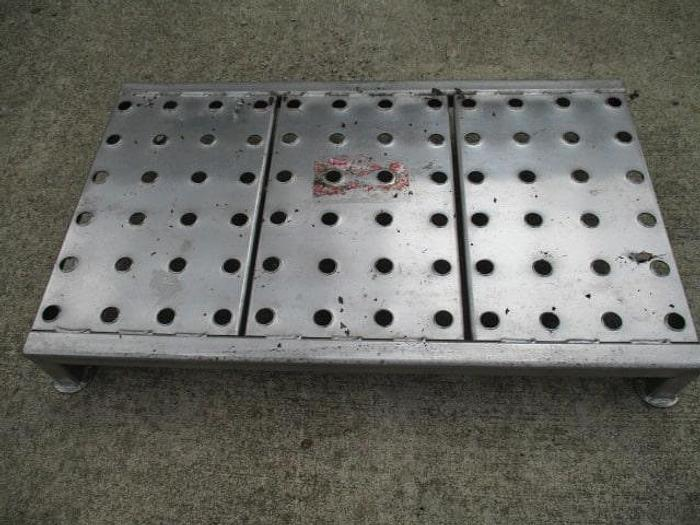 """Used Work Platform; 36""""x21"""", perforated deck for anti-slip, 6"""""""
