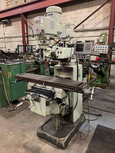 """Used 10"""" X 50"""", FIRST, LC-185VS, VERTICAL MILLING MACHINE"""