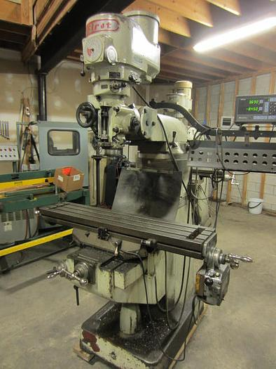 """9"""" x 42"""" First LC 1 1/2 VS Vertical Turret Milling Machine 5593"""