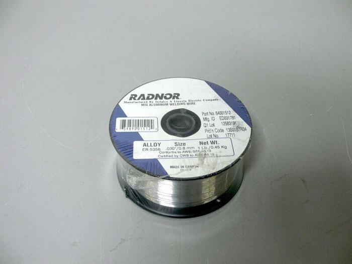 "Used Radnor .030"" / .8mm 1 Lb. ED031781 MIG Aluminum Welding Wire"